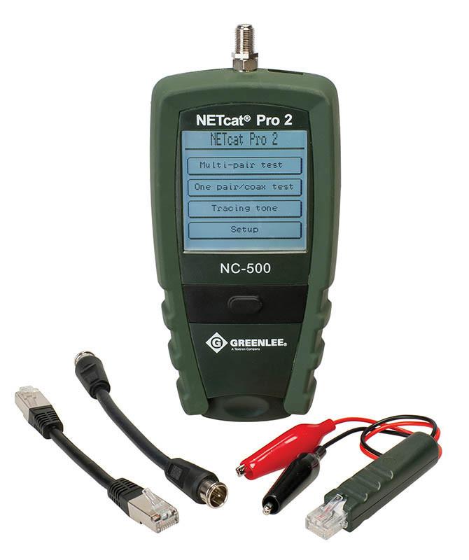 Многофункциональный сетевой тестер Greenlee NETcat Pro NC-500