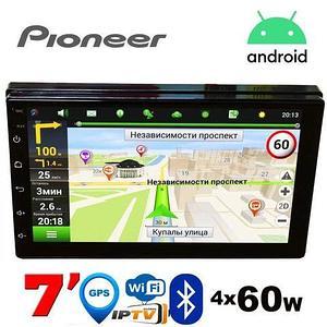 Мультимедийно-навигационная Android-система Pioneer SlimHD {7″, 2DIN, BT, Wi-Fi, GPS, AVin, 4х60W} (2/32 GB)