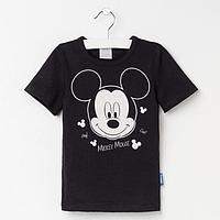 Футболка Disney 'Mickey Mouse', рост 86-92 (28), чёрный
