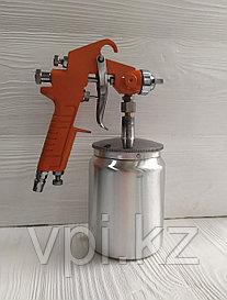 Пневматический краскораспылитель с нижним бачком, 0.5л.  W-71S Spark Lux