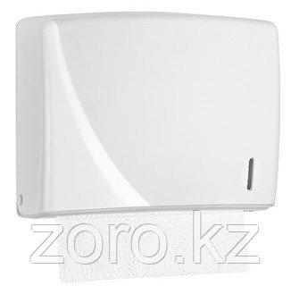 Диспенсер антивандальный для бумажных полотенец Z укладка белый пластик Турция