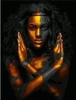 """Картина по номерам """"Черное и золотое"""", 40х50 см"""