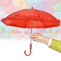 Зонтик для декора маленький 42 см красный