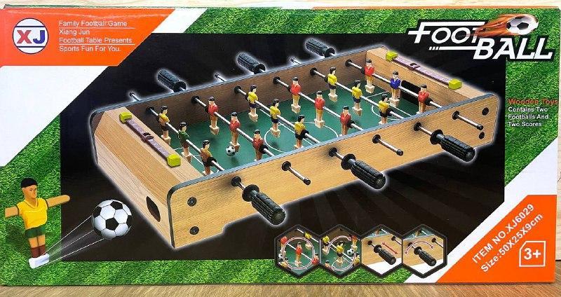 Немного помятая!!! XJ6025 Настольная игра Футбол деревянный (50*25*9см) 51*26см