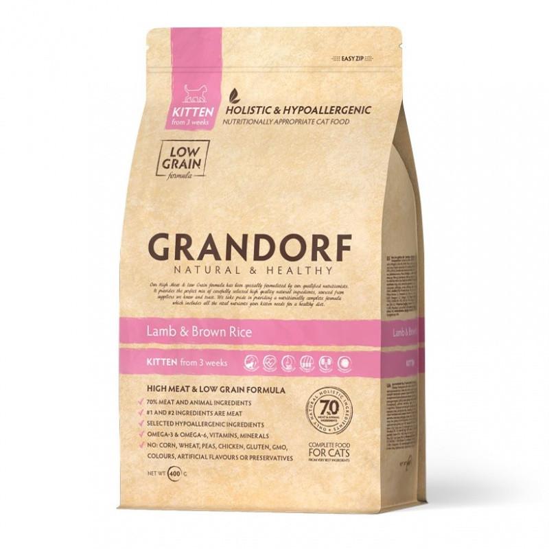 Grandorf Сухой корм для котят, Ягнёнок и рис, 400 гр