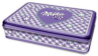 Конфеты Milka Gift Box Alpine Milk в жестяной коробке 184 гр