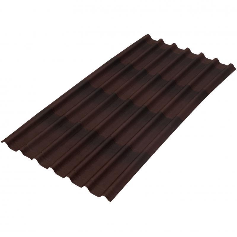 Черепица Ондулин коричневый