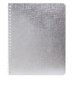 """Тетрадь """"Hatber"""", 96л, А5, клетка, обложка бумвинил, на гребне, серия """"Metallic - Серебро"""""""