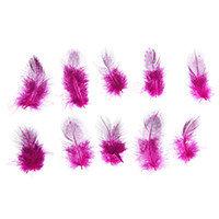 Перо для декора, 5×2 см, цвет розовый с чёрным. 10шт.