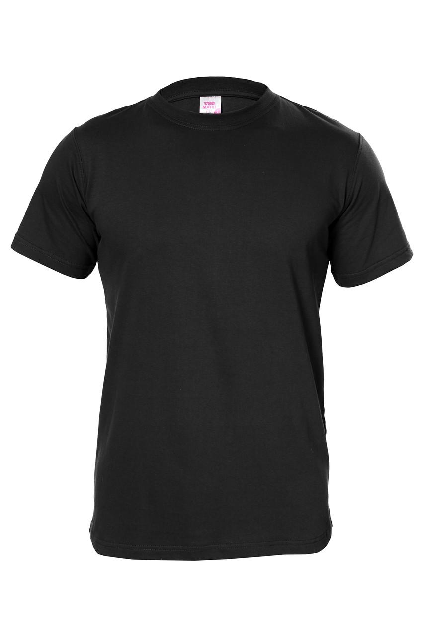 Футболка мужская с коротким рукавом цвет черный