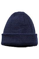 Шапка трикотажная мужская зимняя цвет темно-синий