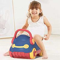 Детский горшок Baby Potty Машинка синий пластиковое сидение