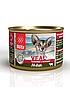 Влажный корм для кошек Blitz Veal телятина с почками