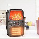 Электрический портативный обогреватель. Мини - обогреватель с вентилятором Flame Heater 1000w, фото 4