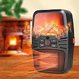 Электрический портативный обогреватель. Мини - обогреватель с вентилятором Flame Heater 1000w, фото 5