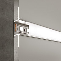 LL-2-ALP013 Встраиваемый алюминиевый профиль для LED ленты (под ленту 9mm)