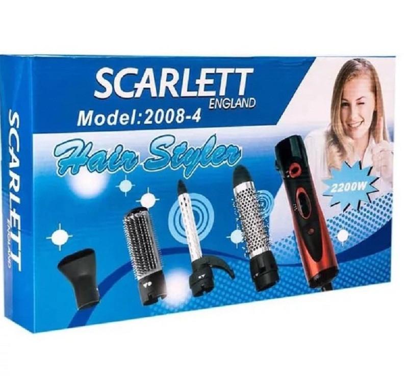 Фен-щетка для волос Scarlett 2008-4 насадки.