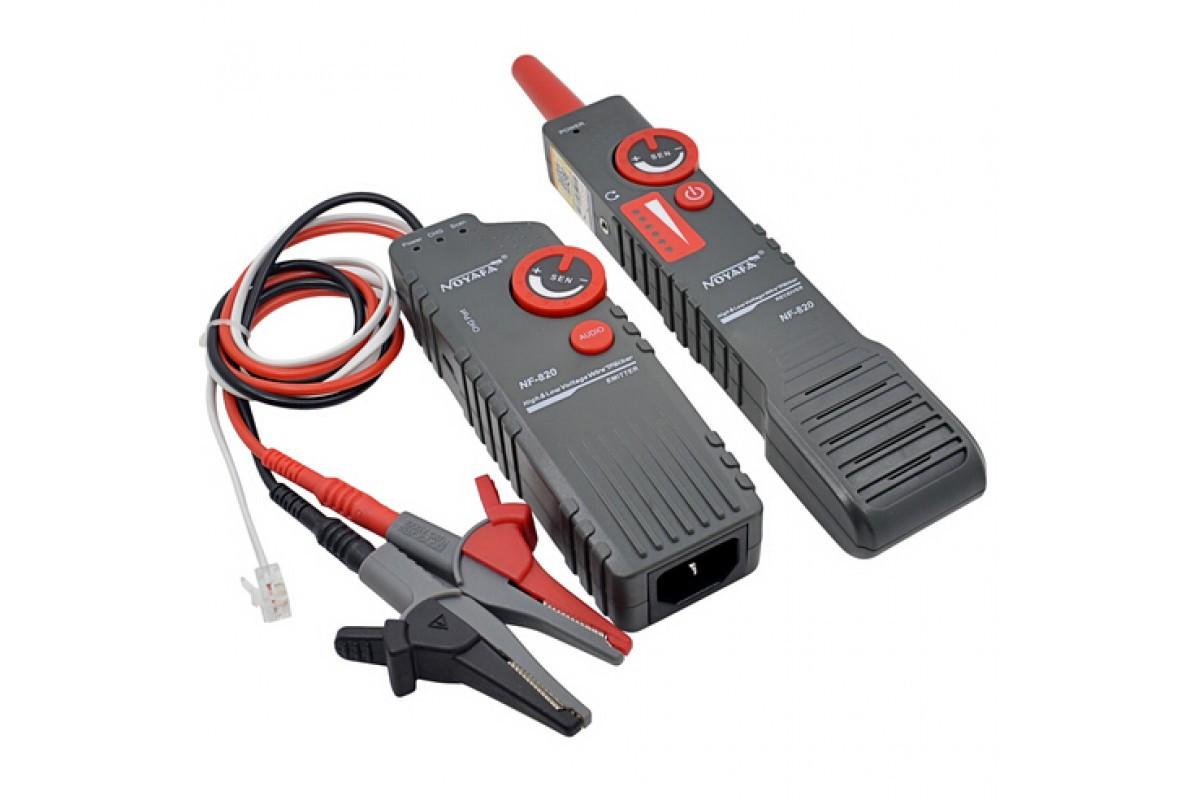 Профессиональный кабелеискатель, трассировщик скрытой проводки под напряжением до 400В (аккум Li-ion, гарнит.)