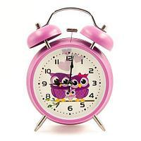 Часы-будильник с подсветкой в винтажном стиле «Double Bell» (Сиреневый)