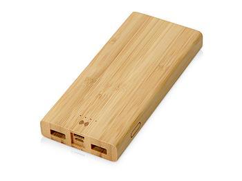 Внешний беспроводной аккумулятор из бамбука Bamboo Air, 10000 mAh