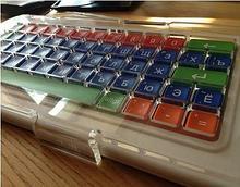 ИА Клавиатура адаптированная с крупными кнопками + пластиковая накладка, разделяющая клавиши, беспроводная