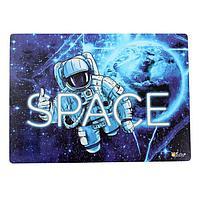 Накладка на стол пластиковая, А4, 339 х 224 мм (+/- 5 мм), 500 мкм, «В космосе», КН-4