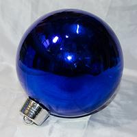 Большой синий новогодний шар - размер 30 см (цвет: красный, синий, серебро, золото)