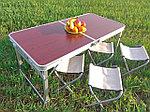 Стол складной уселенный со стульями (60х120 см), фото 2