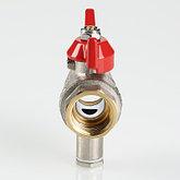 """Кран шаровый для подключения датчика температуры 1/2"""" VALTEC, фото 2"""