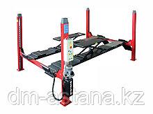 Подъемник четырехстоечный для сход-развала, длина платформы 4600x540 мм OMA524BLT (4 тонны)