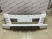 Накладка (губа) переднего бампера с ДХО Hilux/Vigo 2012-15 (Белый)