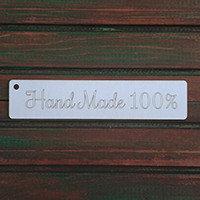 "Чип-борд надпись ""Hand Made 100%"", 2"