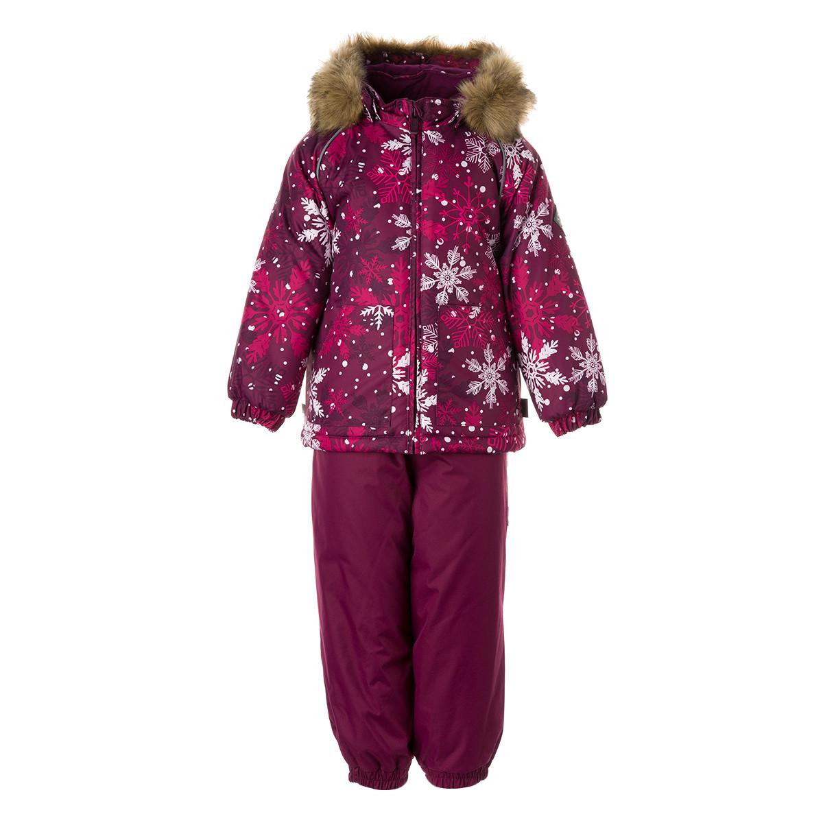 Детский комплект Huppa AVERY, бордовый с принтом