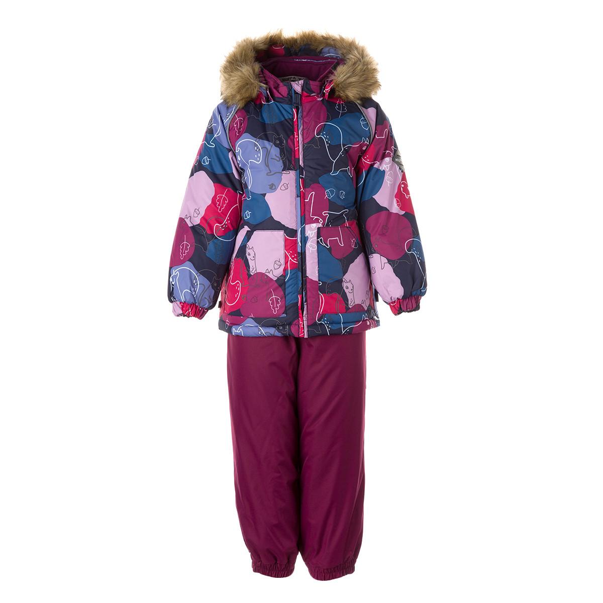 Детский комплект Huppa AVERY, пурпур с принтом/бордовый