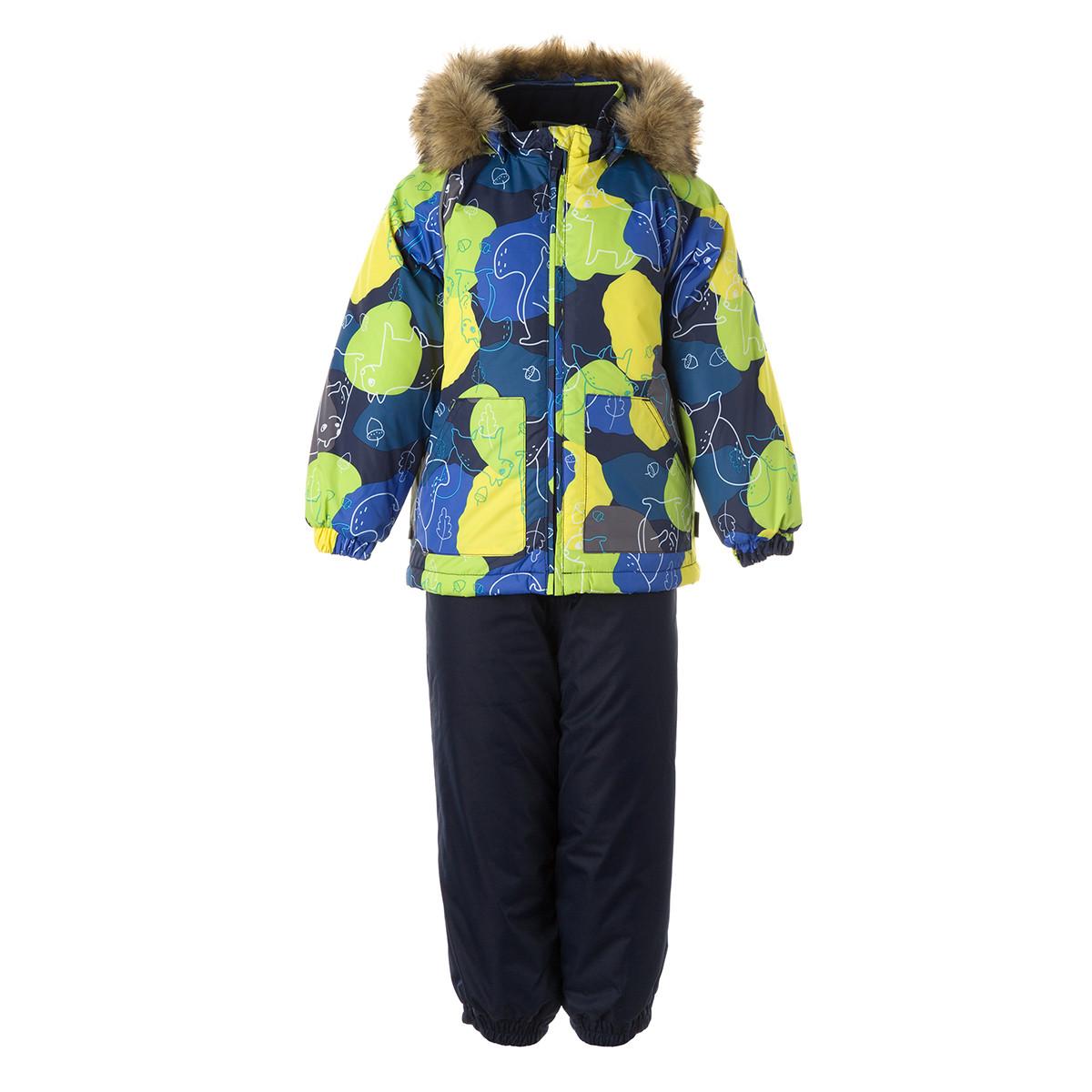 Детский комплект Huppa AVERY, темно-синий с принтом