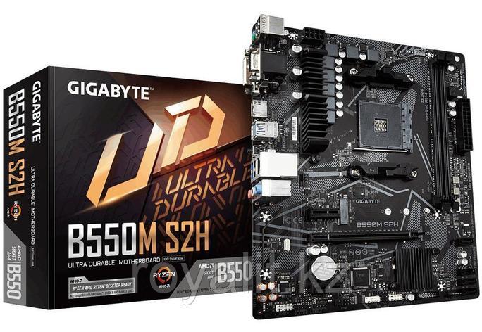 Материнская плата GIGABYTE B550M S2H, AM4, B550, PCI-E, DSUB+HDMI, GbLAN, 4SATA 2DDR4, MATX, фото 2