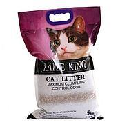 Наполнитель Katze King для кошачьих лотков, минеральные шарики, 5кг