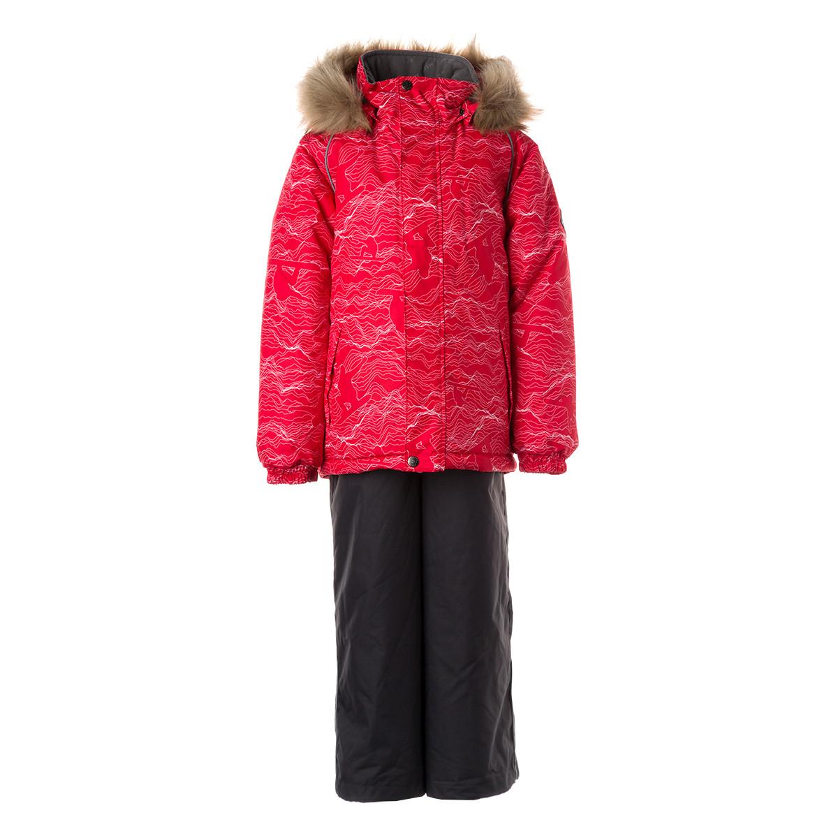 Детский комплект Huppa WINTER, красный с принтом