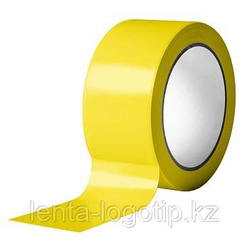 """Разметочная клейкая лента ПВХ 48 мм х 33 м, 150 мкн """"Желтая"""""""