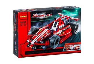 Decool 3412 Конструктор Гоночный автомобиль Ослепительно красный, 158 дет. (Аналог LEGO)