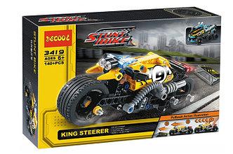 Decool 3419 Конструктор Спортивный мотоцикл Каскадер, 140 дет. (Аналог LEGO)