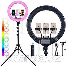 Кольцевая лампа MJ 45 см с RGB режимами