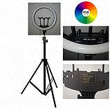 Кольцевая лампа MJ 45 см с RGB режимами, фото 3