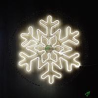 """Новогодняя световая неоновая """"Снежинка"""" 80x80 см (НФ-91)"""