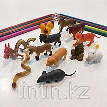 Набор из 12 резиновых животных «Восточный гороскоп», фото 2