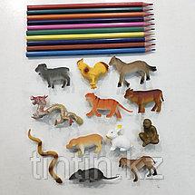 Набор из 12 резиновых животных «Восточный гороскоп», фото 3