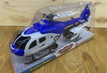 1617-4Helicopter вертолет + мини вертолет в колбе 33*16см
