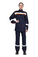 """Костюм защитный от электродуги женский летний легкий """"СП011-ЛII"""" цвет синий/оранжевый"""
