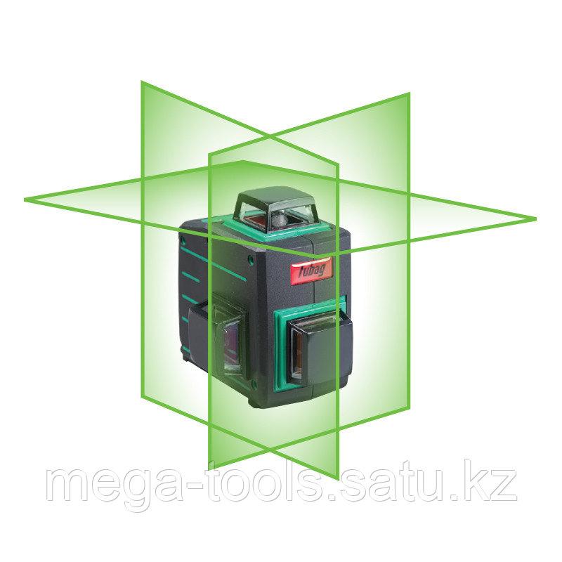 Профессиональный лазерный 3D уровень с зеленым лучом FUBAG Pyramid 30G V2х360H360