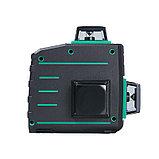Профессиональный лазерный 3D уровень с зеленым лучом FUBAG Pyramid 30G V2х360H360, фото 9